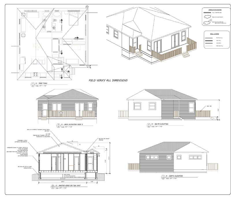 CAD Drawings for Bedroom addition